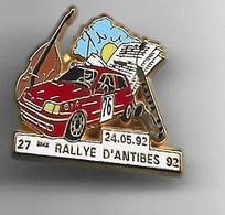 PIN'S RALLYE D'ANTIBES FABRICATION ARTHUS BERTRAND - Rallye