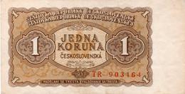 CECOSLOVACCHIA 1 CORONE JEDNA  KORUNA 1953 PK 78 VEDI FOTO - Cecoslovacchia
