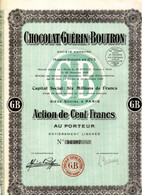 CHOCOLAT GUERIN-BOUTRON - Non Classés