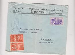 CROATIA ITALY WW II 1941 SPALATO SPLIT Nice Cover To Zagreb - Croatia