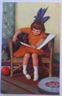 Kinder, Mode, Hund, Dackel, Ich Will Nicht Lernen, 1908, Bender  ♥ (50428) - Cani