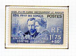 Cote Des Somalis 1938 Pierre Et Marie Curie YT 147 - Nuovi