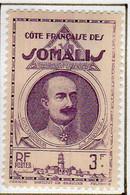 Cote Des Somalis 1938 Leonce Lagarde3 F  YT 166 - Nuovi