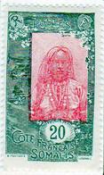 Cote Des Somalis 1925 Femme Indigene 20c YT 124 - Nuovi