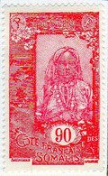 Cote Des Somalis 1925 Femme Indigene 90c YT 133 - Nuovi