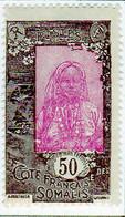 Cote Des Somalis 1925 Femme Indigene 50c YT 127 - Nuovi