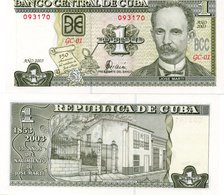 CUBA 1 PESO 2003 Banknote Unc JOSE MARTI FDS - Cuba