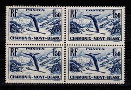 YV 334 N** Chamonix En Bloc De 4 Luxe Cote 64+ Euros - Frankreich
