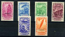 Tánger (beneficencia) Nº 6/11. Año 1938 - Wohlfahrtsmarken