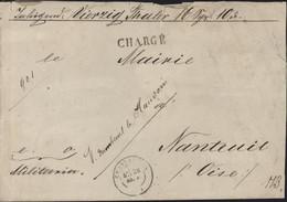 Guerre 1870 Troupes Prussiennes En France Chargé Franchise Postale Charleville 26 9 71 Cire Commando DKS Train Bataillon - War 1870