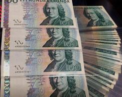 SWEDEN 100 Kronor Banknote - Svezia