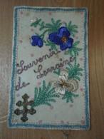 Cpa Souvenir De Lorraine - Carte Postale Militaire - ( Décrte 2 Aout 1914 ) - Borduurwerk