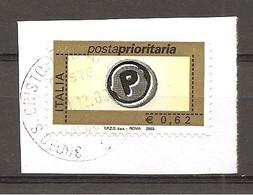 ITALIA - 2003 POSTA PRIORITARIA €0,62 Con Dicitura IPZS SpA ROMA 2003  Usato - 2001-10: Oblitérés