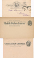 3 Carte Entiers Postaux ETATS UNIS UNITED STATES OF AMERICA - 1845-47 Emissioni Provinciali