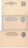 3 Carte Entiers Postaux Postal ETATS UNIS D'AMERIQUE.. UNITED STATES OF AMERICA US POSTAGE US - 1845-47 Emissioni Provinciali