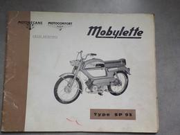 1969 Catalogue Pièces Détachées Mobylette Motobécane Motoconfort  Type SP93  Pantin France - Motorräder