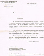 INVITATION  D' UN CONSEIL  D' ADMINISTRATION   1957     TBE   D2 - Anuncios