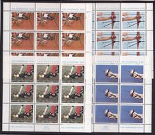 Olympics 1980 - Cycling - Fencing - YUGOSLAVIJA - 4 Sheets MNH - Summer 1980: Moscow