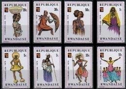 Rwanda Ruanda 1975 OCBn° 704-711 *** MNH Cote 4,25 Euro Folklore Et Costumes - 1970-79: Nuevos