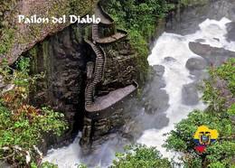 Ecuador Pailon Del Diablo Waterfall New Postcard Ekuador AK - Ecuador
