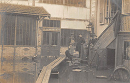 PARIS-2 CARTES-PHOTO- INONDATIONS PARIS 12eme  A CONTRÔLER - Überschwemmung 1910
