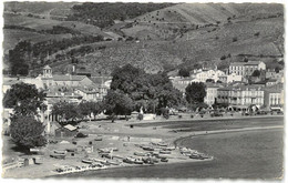 CPSM BANYULS - La Plage , L'église Et La Place - Ed. SEPT N°106-18 - Banyuls Sur Mer