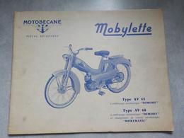 1963 Catalogue Pièces Détachées Motobécane Mobylette Type AV65- Type Av68 Dimoby  Pantin France - Motorfietsen