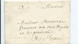 Lettre  ( Sans écrit ) Du 20 Mars 1773 Pour Procureur De Beaune - 1701-1800: Vorläufer XVIII