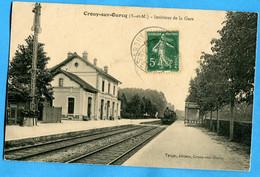 77 - Seine Et Marne - Crouy Sur Ourcq -  Interieur De La Gare (N186) - Altri Comuni