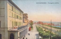 CIVITAVECCHIA - CARTOLINA - PASSEGGIATA PUBBLICA - Civitavecchia