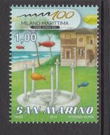 2012 San Marino Marittima Show  Complete  Set Of 1 MNH   ** BELOW FACE VALUE *** - Ungebraucht