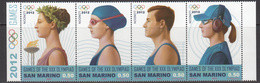 2012 San Marino London 2012 Olympics Complete Strip Of 4 MNH @ BELOW FACE VALUE - Unused Stamps