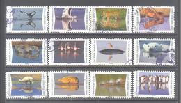 France Autoadhésifs Oblitérés (Série Complète : Animaux Du Monde, Reflets) (cachet Rond) - Used Stamps