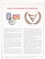 Exemplaire N°001 Feuillet Tirage Limité 500 Exemplaires Frappe Or Fin 23 Carats 1999 2000 Année Int. Handicapés - Kleinbögen