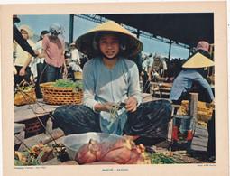 Chromo : Image Pédagogique : Indochine : VIET NAM : Marché à Saïgon : ( Voir Description ) - Otros