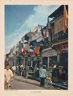 Chromo : Image Pédagogique : Indochine : VIET NAM : Une Rue à Hanoi: ( Voir Description ) - Otros