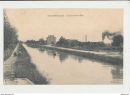 11 GRUISSAN LE CANAL ET LA GARE AVEC TRAIN CPA BON ETAT - Other Municipalities