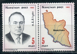 Е150 AZERBAIJAN (Nakhichevan) 1993 1AI-2AI 70th Anniversary Of The Birth Of H. Aliyev - Azerbaïjan