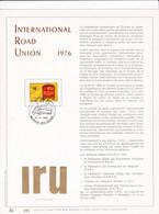 Exemplaire N°001 Feuillet Tirage Limité 500 Exemplaires Frappe Or Fin 23 Carats 1807 International Road Union Camion - Kleinbögen