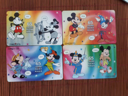 Disney 4 Phonecards Chip (mint,New) Only 3000 EX Made 2 Scans Rare - Disney