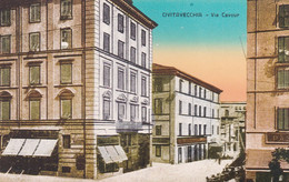 CIVITAVECCHIA - CARTOLINA - VIA CAVOUR - Civitavecchia