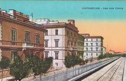CIVITAVECCHIA - CARTOLINA - VIALE DELLA VITTORIA - Civitavecchia