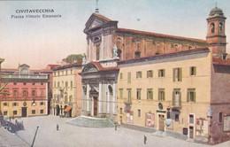 CIVITAVECCHIA - CARTOLINA - PIAZZA VITTORIO EMANUELE - Civitavecchia