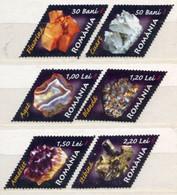 ROMANIA 2006 Minerals  MNH / **.  Michel 6099-104 - Unused Stamps