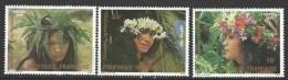 """Polynésie YT 205 à 207 """" Couronnes De Fleurs """" 1983 Neuf** - Ungebraucht"""