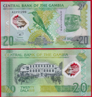 "Gambia 20 Dalasis 2014 P-30 ""20 Years Of Progress"" Polymer UNC - Gambia"