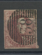 40c  12 A Carmin-rose  Ø 38      Cote 100,00 - 1858-1862 Medallions (9/12)