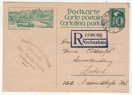 Suisse // Schweiz // Entier Postaux //  Entier Postal Pour Zurich (Image Automobile Postale Du Grand St.Bernard) - Ganzsachen