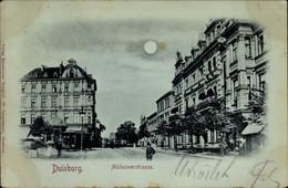 Clair De Lune CPA Duisburg Im Ruhrgebiet, Blick In Die Mülheimerstraße, Hotel Deutscher Kaiser - Deutschland