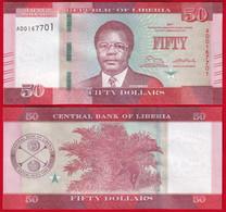 Liberia 50 Dollars 2017 P-34 UNC - Liberia